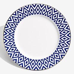 Aragon Plate, 21cm, midnight blue & white