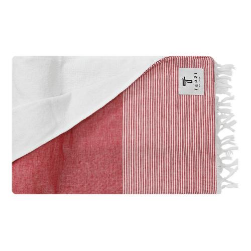 Fifty-Fifty Bath towel, 90 x 170cm, Red