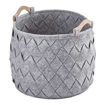 Amy Medium storage basket, 35 x 35cm - 33L, silver