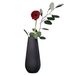 Collier Noir Tall vase, 11.5 x 26cm, black