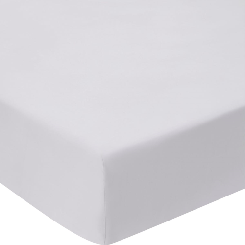 Millennia 1200TC Super king size fitted sheet, 180 x 203 x 38cm, Silver