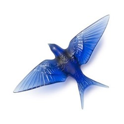 Hirondelles Wall swallow wings down, H60 x L150 x W235mm, sapphire blue