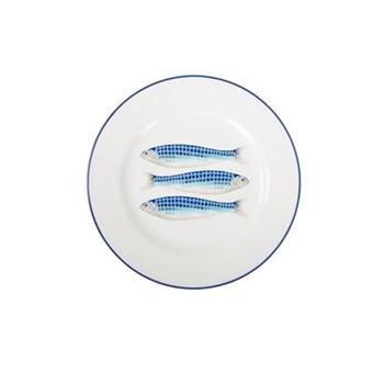 Harlequin Blue Set of 4 side plates, 23cm, Harlequin Blue