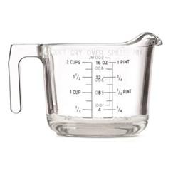 Deco Dot - 'Dont Cry over Spilt Milk' Glass measuring jug, 47cl