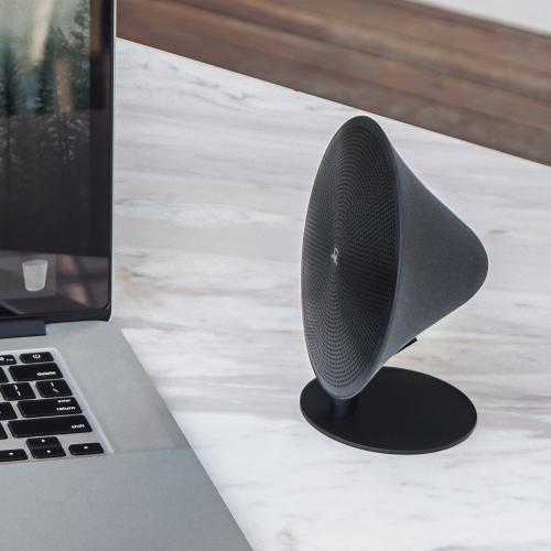 Mini Halo One Bluetooth speaker, H16 x L14 x D6cm, Matt Black