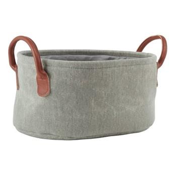 York Storage basket, 36 x 26 x 17cm, sage green
