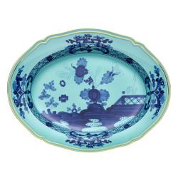 Oriente Italiano Oval platter, 34cm, Iris