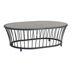 Cordial Oval coffee table, 119 x 85cm, grey