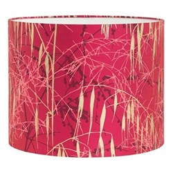 Three Grasses Drum lampshade, W31 x H24cm, hot pink/soft gold