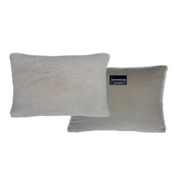 Sheepskin bolster cushion L43 x W33cm