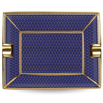 Antler Trellis Ashtray, 20 x 15.5cm, midnight blue and gold