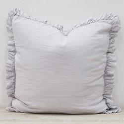 Olivia Ruffle cushion, W65 x L65cm, silver grey