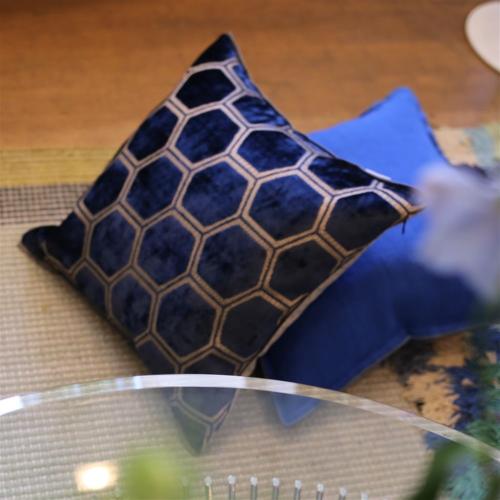 Manipur Cushion, H43 x W43cm, Midnight