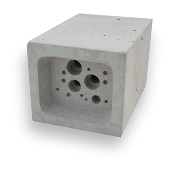 Bee Block Small bee house, 6.5 x 7 x 10.5cm, concrete