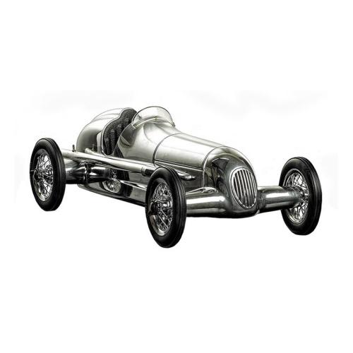 Silberpfeil Model car, H9 x W15 x L31cm, Polished Aluminium