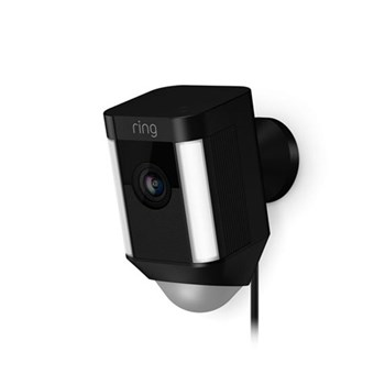 Ring Hardwired Spotlight Camera Smart hardwired security camera with built-in Wi-Fi and siren alarm, L12.6 x W6.91 x H7.59cm, black