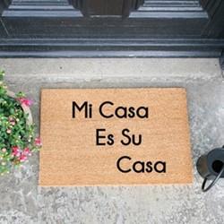 Spanich Micasa Doormat , L60 x W40 x D1.5cm, natural/black