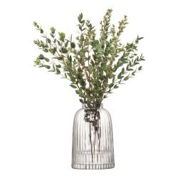 Pleat Vase, 20cm, clear