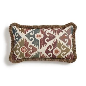 La Merce Oblong cushion, ikat design