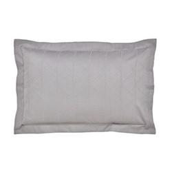 Farrah Oxford pillowcase, L48 x W74cm, silver