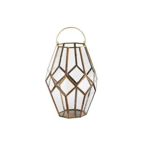 Mohani Lantern, 35 x 25cm, Antique Brass