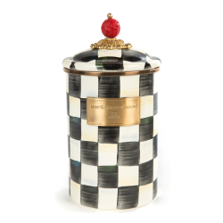 Courtly Check Large canister, 1.8L, Enamel