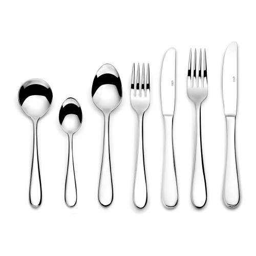 Glacier 7 piece cutlery set, Mirror Finish Polished