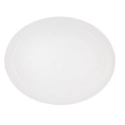 Utopia Oval platter, 35 x 28cm, White