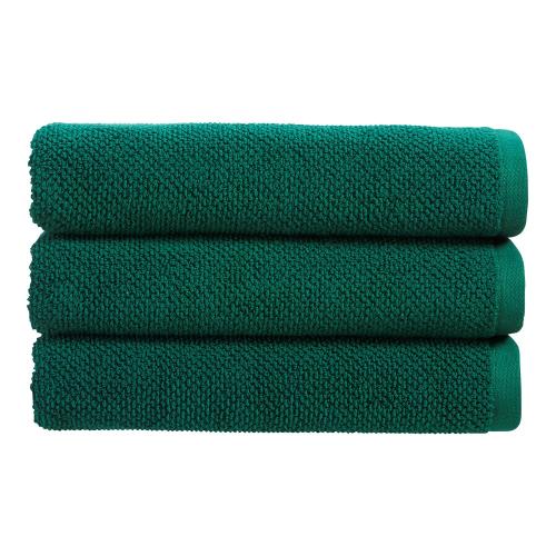 Brixton Pair of hand towels, 50 x 90cm, Emerald