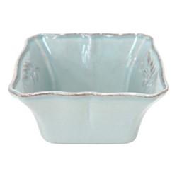 Alentejo Set of 6 square bowls, 13cm, turquoise