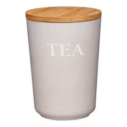 Natural Elements Tea canister, 14 x 10.5cm, bamboo