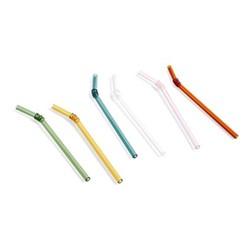 Sip Swirl Set of 6 straws, L19cm, multi