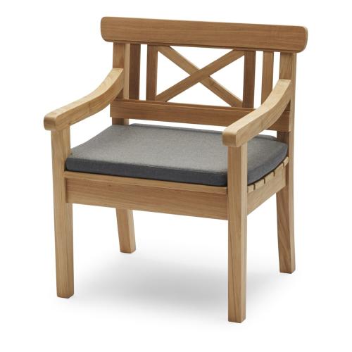Drachmann Chair cushion, L65 x W51 x H5cm, Charcoal