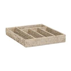 Ashcroft Cutlery tray, L36 x W31 x H5.5cm, rattan