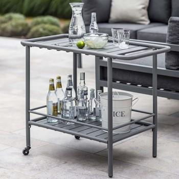 Drinks trolley, H70 x W80 x D45cm, charcoal steel