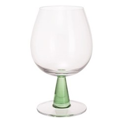 Gin Connoissuer Pair of copa glasses, H17.5cm - 0.63 litre, clear/green