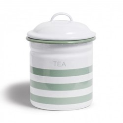 Hempton Tea canister, 10.8 x 15.25cm
