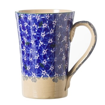 Lawn Tall mug, H14cm, dark blue