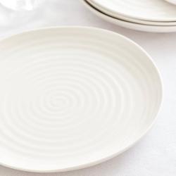 Ceramics Set of 4 dinner plates, 27cm, White