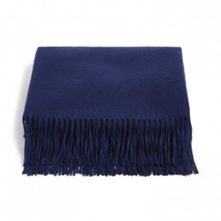 Portobello Cashmere throw, L180 x W140cm, midnight cashmere