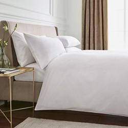 300TC Plain Dye Super king size duvet cover, L220 x W260cm, white
