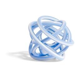 Knot Glass knot decoration, Dia20cm, light blue