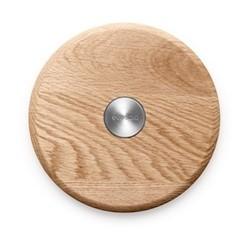 Nordic kitchen Magnetic trivet, Dia18.5cm, oak/stainless steel/magnet