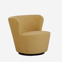 Dorothy Swivel chair, W76 x H71.5 x D74cm, quince houdini velvet