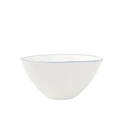 Abbesses Set of 4 medium bowls, 15.2 x 7.6cm, Blue Rim
