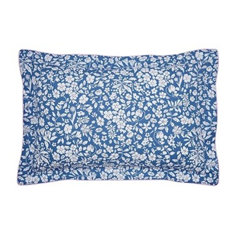 Orchard Ditsy Oxford pillowcase, L48 x W74cm, blue yonda