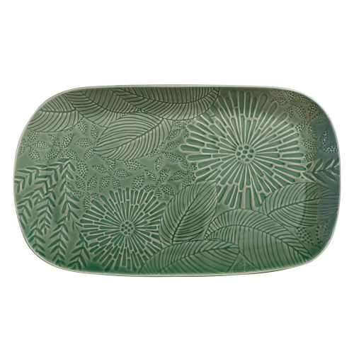 Panama Panama Stoneware Oblong Serving Platter Kiwi Gift Boxed, Green
