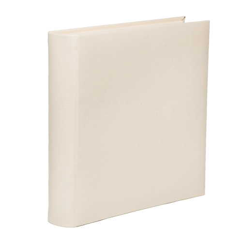 Ivory Range Photograph album square with 70 leaves, 36cm, full bound leather