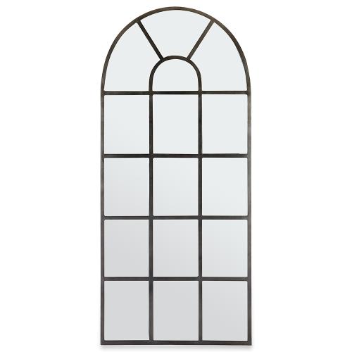 Imoma Full Lenth Arch Mirror, Antique Zinc