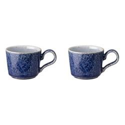 Studio Blue Pair of espresso cups, H9cm - 10cl